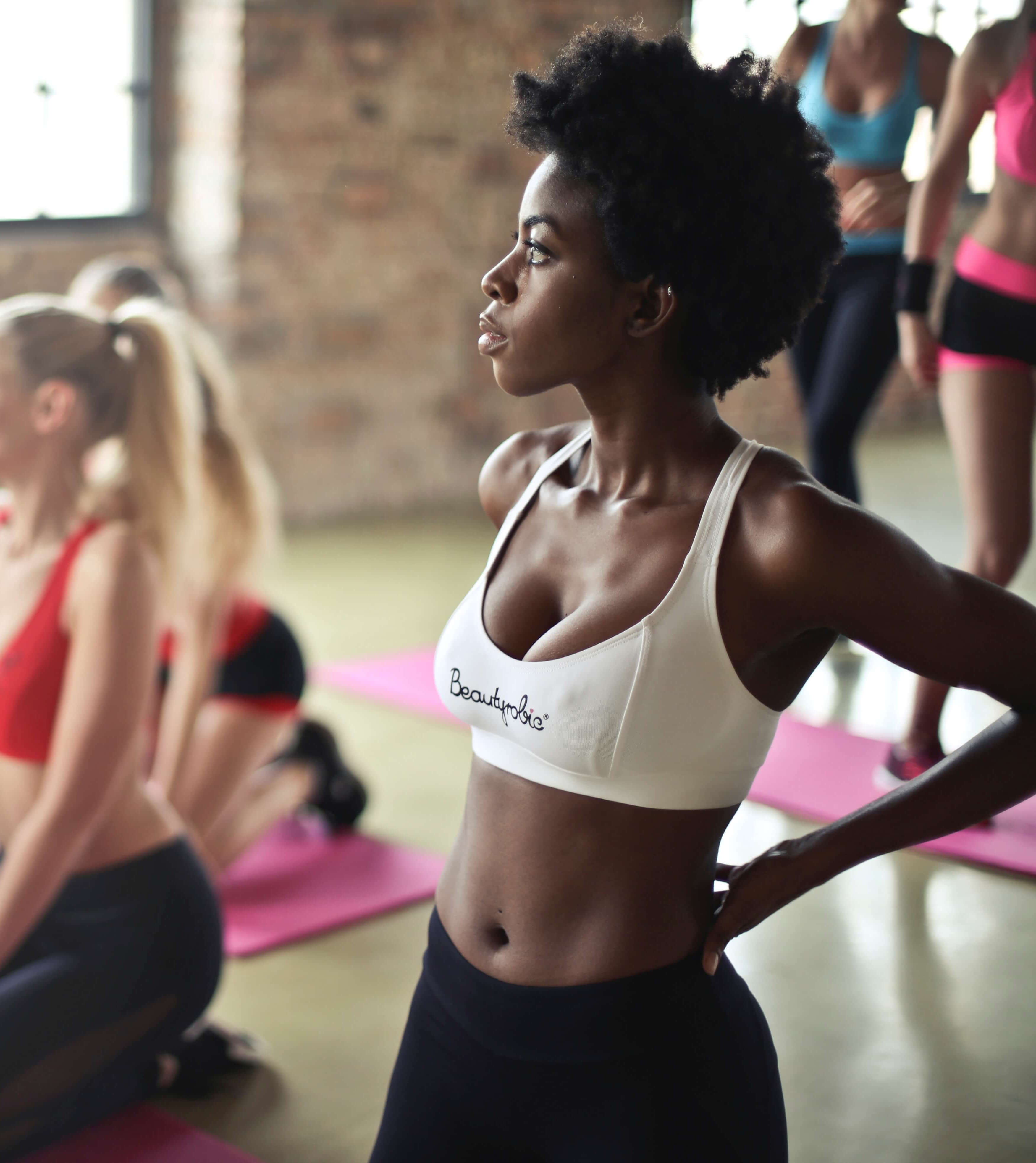 woman in a exercise class